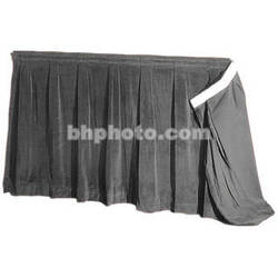 """The Screen Works 48"""" Skirt for E-Z Fold Truss Projection Screen-16x21'- Gray"""