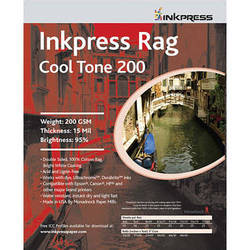"""Inkpress Media Picture Rag Cool Tone Paper - 13"""" Wide Roll - 50' Long"""