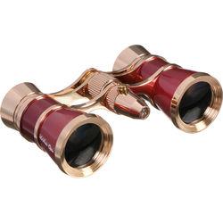 LaScala Optics 3x25 Aida Opera Glass (Burgundy & Gold)