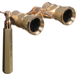 LaScala Optics 3x25 Iolanta Opera Glasses with Flashlight (Titanium and Gold)
