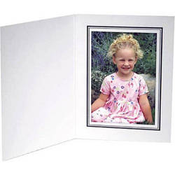 "Collector's Gallery White Conventional  Portrait Folder with Black Border  for 8 x 10"" Print , Model PF5210-810 (Portrait Format)"