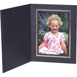 "Collector's Gallery Black Classic Portrait Folder w/ Gold Foil Border for 8 x 10"" Print , Model PF5500-810"