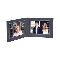 """Collector's Gallery Double View Folder-Classic Style  with Gold Foil Window Border , Model PF5502-54-for 4 x 5"""" Prints (Landcape Format)"""
