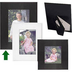 "Collector's Gallery Sturdy Easel Frame  for 5 x7"" Print , Model PF5815-57 (Black)"