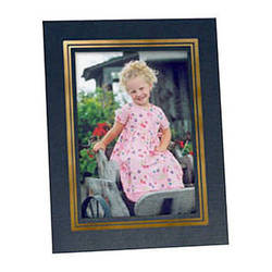 """Collector's Gallery Easel Picture Frame for 4 x 5"""" Print  with Gold Border , Model PF5930-45"""