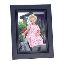 """Collector's Gallery Easel Picture Frame for 4 x 5"""" Print  with Black Border , Model PF5950-45"""