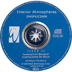Sound Ideas Sampled CD: De Wolfe Library - Interior Atmospheres (Disc DW09)