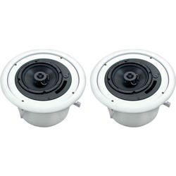 Atlas Sound FAP62T Strategy II Coaxial Ceiling System Speakers (Pair / White)