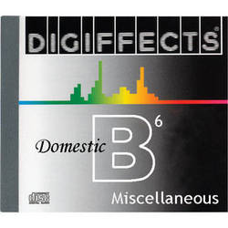 Sound Ideas Sample CD: Digiffects Domestic SFX - Miscellaneous (Disc B06)