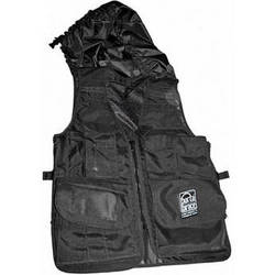 Porta Brace Video Vest with Hood (Large, Black)