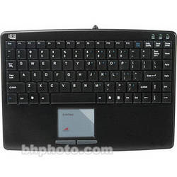 Adesso SlimTouch Mini Keyboard with Built-in TouchPad - USB (Black)