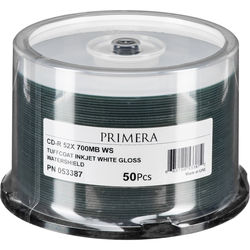 Primera TuffCoat CD-R Recordable CDs with WaterShield (Spindle Pack of 50)