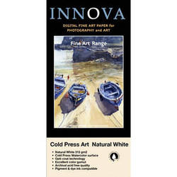 """Innova Cold Press Rough Textured Natural White Paper for Inkjet (13x19"""", 25 Sheets)"""