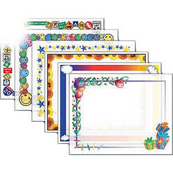 """Dry Lam Pizzazz Decorative Laminating Pouches - Assorted Pack - Fun Frames 9 x 11.5""""  (24 Pack)"""