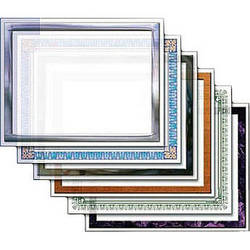 """Dry Lam Pizzazz Decorative Laminating Pouches - Award Pack - Classic Frames 9 x 11.5""""  (24 Pack)"""