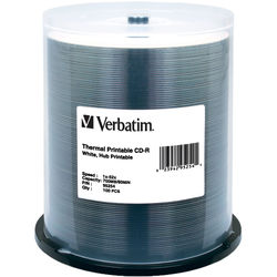 Verbatim CD-R White Thermal/Hub Disc (100)