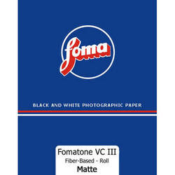 "Foma Fomabrom VC Fiber-Based/112 Paper, 42.5""x33' Roll  (Matte)"