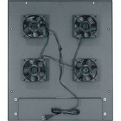 "Middle Atlantic MW-4FT-380CFM 380 CFM Integrated Fan Top with (4) 4-1/2"" Fans"
