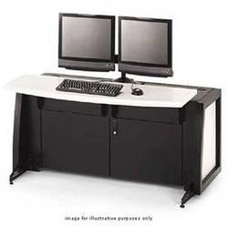 Winsted Dual Mount Slim-Line console, Model C5113 (Black/White Nebula)