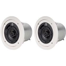 "Atlas Sound FAP42T 4"" 2-Way Weather-Resistant Speaker System (Pair, White)"