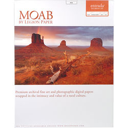 "Moab Entrada Rag Bright 300 Paper (Matte, 2-sided, 300 gsm) - 17x22"" - 25 Sheets"