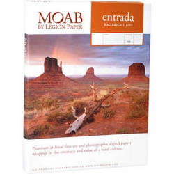 """Moab Entrada Rag Bright 300 Paper (Matte, 2-sided, 300 gsm) - 36x48"""" - 25 Sheets"""