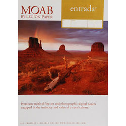 "Moab Entrada Rag Natural 190 (Matte, 2-sided) Paper- 17x22"" (C) - 25 Sheets"