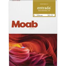 """Moab Entrada Rag Natural 190 Paper (A4 8.3 x 11.7"""", 25 Sheets)"""