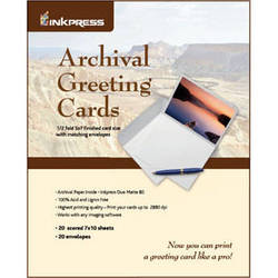 "Inkpress Media Archival Greeting Cards 7x10"" Scored (20 Sheets)"