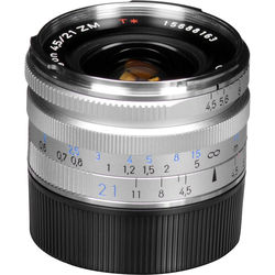 Zeiss Super Wide Angle 21mm f/4.5 C Biogon T* ZM Manual Focus Lens - Silver