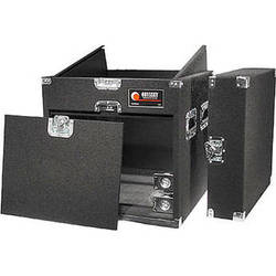 Odyssey Innovative Designs CXP1108W Carpeted Console Rack Case {Black}