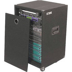 Odyssey Innovative Designs CRE16W Carpeted Econo Rack Case (Black)
