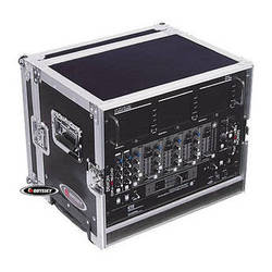 Odyssey Innovative Designs FZER8HW Flight Zone Rolling Shallow Eight Space Special Effects Rack Case
