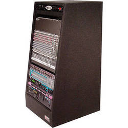 Odyssey Innovative Designs CRS24 Carpeted Studio Rack with Casters (24U)