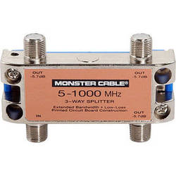 Monster Cable Standard 3 Way RF Splitter For CATV Signals MKII
