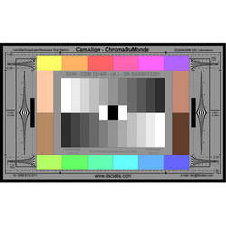 DSC Labs ChromaDuMonde 12+4-R Super Maxi CamAlign Chip Chart with Resolution