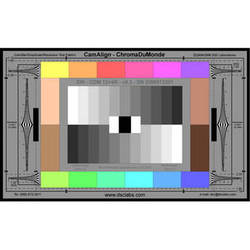 DSC Labs ChromaDuMonde 12+4-R Maxi CamAlign Chip Chart with Resolution