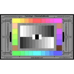 DSC Labs ChromaDuMonde 28-R Senior CamAlign Chip Chart with Resolution Trumpets