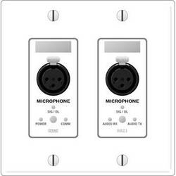 Rane RAD 1 2 Gang Wall Plate with 2 Microphone Inputs (White)