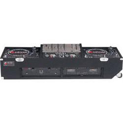 Odyssey Innovative Designs CDJ1906W Carpeted DJ Turntable Coffin Case (Black)