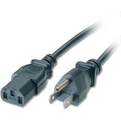 C2G 18 AWG Universal Power Cord (NEMA 5-15P to IEC C13, 3')
