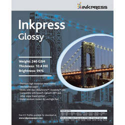 "Inkpress Media RC Glossy Inkjet Paper (240gsm) - 11 x 17"" (100 Sheets)"