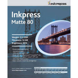 "Inkpress Media Duo Matte 80 Paper (13 x 19"", 100 Sheets)"