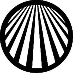 Rosco Standard Steel Gobo #78047B Perspective Lines2 (B = Size 86mm)