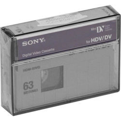 Sony Videographer Grade 63 Minute HDV/Mini DV Tape