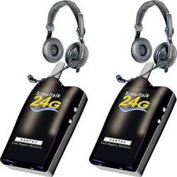Eartec 2 Simultalk 24G Beltpacks with SlimLine Double Headsets