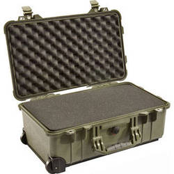 Pelican 1510 Carry-On Case with Foam Set (Olive Drab)