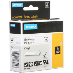 "Dymo 1/2"" x 18' Vinyl Label Tape for RHINO Label Printers (White)"
