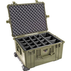 Pelican 1624 Waterproof 1620 Case with Dividers (Olive Drab)