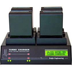Dolgin Engineering TC400 Four-Position Simultaneous Battery Charger for Sony BP-U30, BP-U60, BP-U90